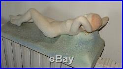 Rare Ceramique Art Deco, Femme Nue, Garconne Signe L. Dage