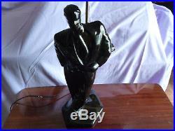 Rare lampe vintage ceramique style art deco 65 c m