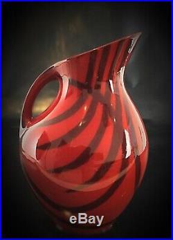 Rare modèle de céramique par Zsolnay Hungary Art Deco 1925-40 pichet / vase