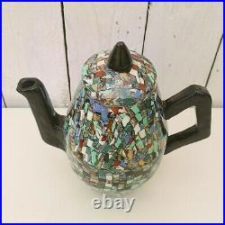 Rare service à café, céramique Vallauris, Jean Gerbino, art déco