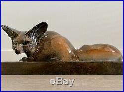Renard cubiste céramique sculpture GABRIEL BEAUVAIS édition KAZA art déco fennec