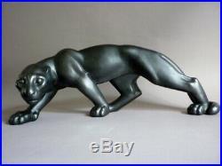 Riccardo Scarpa grande panthere noire en marche ceramique Art Déco 1930
