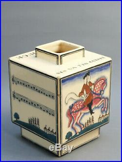 Robert Lallemant Vase Art Deco 1930 Ceramique Faience Buthaud Besnard Felure