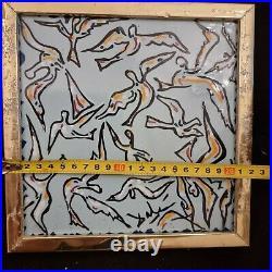 Salvador DALI La nuit des oiseaux, 1954, Céramique originale signée