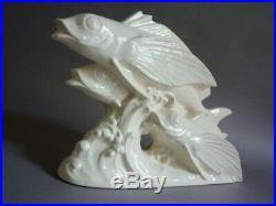 Sarreguemines Poissons Ceramique Craquele Art Deco 1930