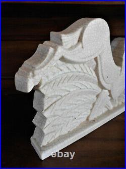 Sculpture Cheval Céramique PRIMAVERA Craquelé Art Déco