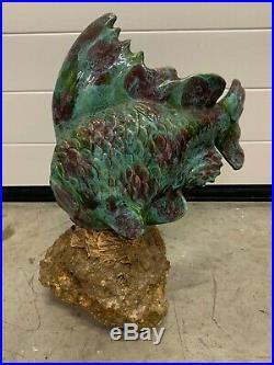 Sculpture Gh Laurent Art Deco Poisson Ceramique