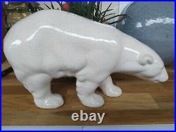 Sculpture animalière Art Déco OURS Céramique Craquelée