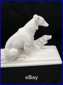 Sculpture, céramique art déco signée Odyv