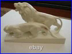 Sculpture en céramique craquelée ART DECO signée L FRANCOIS (1800-1857)