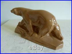 Sculpture en céramique émaillée ours polaire DAX ART DECO