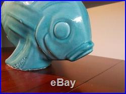 Sculpture poisson Le Jan en céramique style art déco