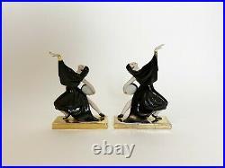 Serre-livres Bookends Robj Paris ceramique danseuses tambours ceramic art deco