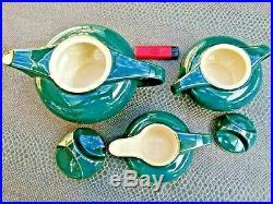 Service à café ou à thé art déco en céramique marque Salins France début 20 ème
