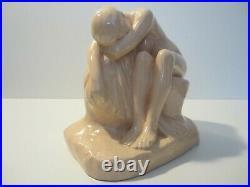 Statuette Ceramique Craquelee Nu Feminin Edition Kaza Art Deco 1930/femme Nue