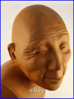 Statuette buste céramique art déco 1930 signé Gaston Hauchecorne