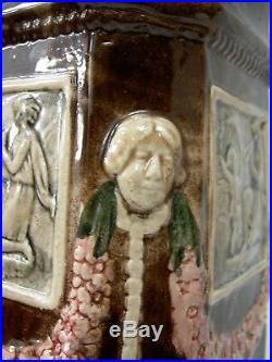 Superbe Colonne Ceramique Secession Viennoise Esp. Goldscheider Art Nouveau Deco