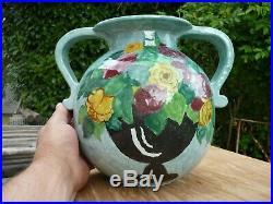 Superbe Gros Vase Art Deco Ceramique De Louis Baude Montigny Sur Loing Primavera