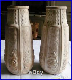 Superbe Paire De Vases Ceramique Art Deco Belgique Cvaf