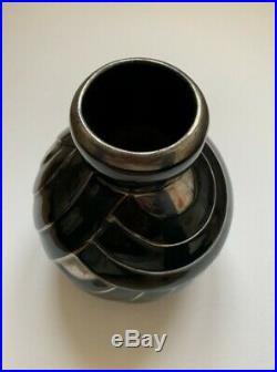 Superbe Vase En Ceramique Epoque Art Deco 1930 Decor Constructiviste