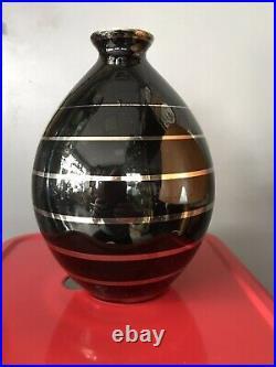 Superbe vase boch la louvière n°1046 art déco charles catteaux keramis belgium