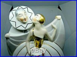 Superbe veilleuse Art déco dans le Gout de Robj numérotée Pierrot et Colombine