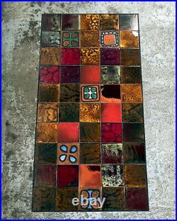Table Basse Céramique Dlg Capron Accolay Jouve Vallauris Deco Art Vintage