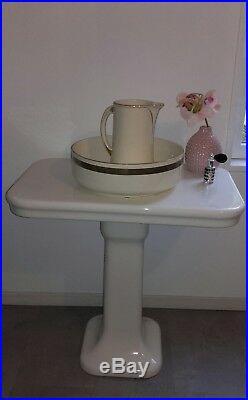 Table De Toilette Céramique ART DÉCO Années 30/40