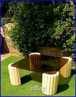 Table Table Basse en Céramique Design Tommaso Barbi 1960 Vintage Signé