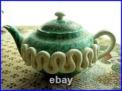 Théière en céramique émaillé SAINTE RADEGONDE Gustave ASCH époque art déco