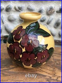 Très Beau Grand Vase De Savoie Emile Simonod SISPA céramique émaillée Art Déco