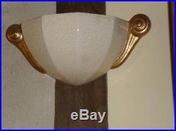 Tres Belle Vasque Ceramique Art Deco Craquelee Longwy