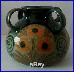 Très beau vase céramique Alsace Soufflenheim signé Elchinger époque Art Deco