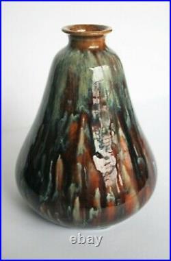Très beau vase céramique émaillée art déco années 30 Signé PRIMAVERA
