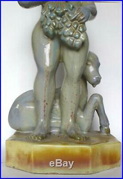 Très grand grès Paul Schenck sculpture XXe Art Déco Wiener Werkstatte 1920