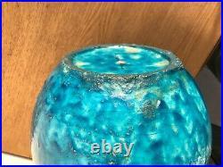 Très gros vase Lachenal Art Deco Lampe Céramique 5.9kg Bleu Blue H 29cm