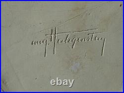 Unique céramique ART DECO 1930 13 cm signé Auguste HEILIGENSTEIN (1891-1976)