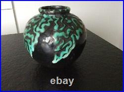 VASE BOULE CAB Céramique d'Art de Bordeaux 1930 ART DECO PRIMAVERA