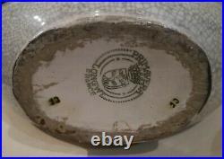 VASE GOURDE ART DÉCO 1920-1930 PRIMAVERA (Longwy) céramique craquelée no Gueden