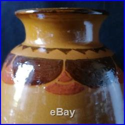 Vase Art Deco En Ceramique De Savoie Paul Bonifas Et A. Baud, Savoie, Ferney