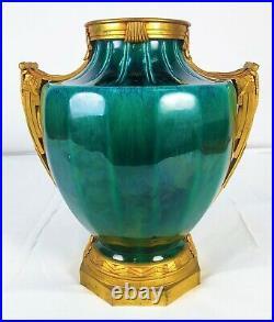 Vase Art Deco. Paul Milet. Ceramique Verd Mer. Sèvres. France. Circa 1920