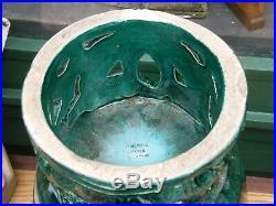 Vase Art Déco en Céramique René Meynial Décor de Chevaux Poissons