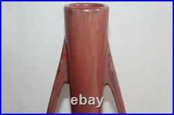 Vase Art déco marqué Pierrefonds céramique lustrée Hauteur 27.5 cm