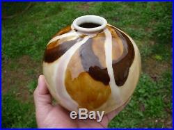 Vase Boule Camille Tharaud Emaux Porcelaine De Limoges Ceramique Art Deco 1930