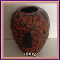 Vase Cab France Céramique Émaillée Vers 1920 Art Déco H16 CM