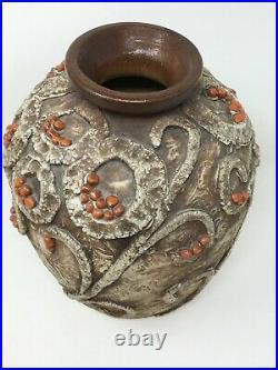 Vase Céramique Art Déco Signé Louis Dage Emaillé 1930