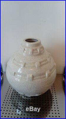 Vase Ceramique Craquelee. Art Deco. 1930