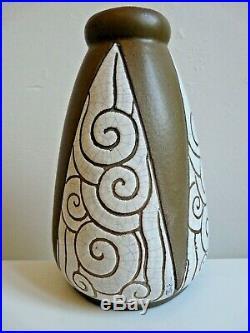Vase Ceramique Gres Cazalas Signe Paule Art Deco Basque 1930 No Ciboure