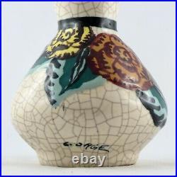Vase Céramique LOUIS DAGE Décor Floral Art Déco 1930/année 30/larrieu/fontinelle