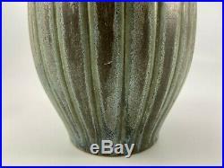 Vase Denbac Rene Denert Ceramique Patine Verte N 419 Signe Art Deco H1188